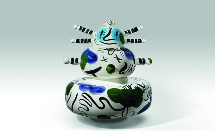 01 Vase ceramic round special shape