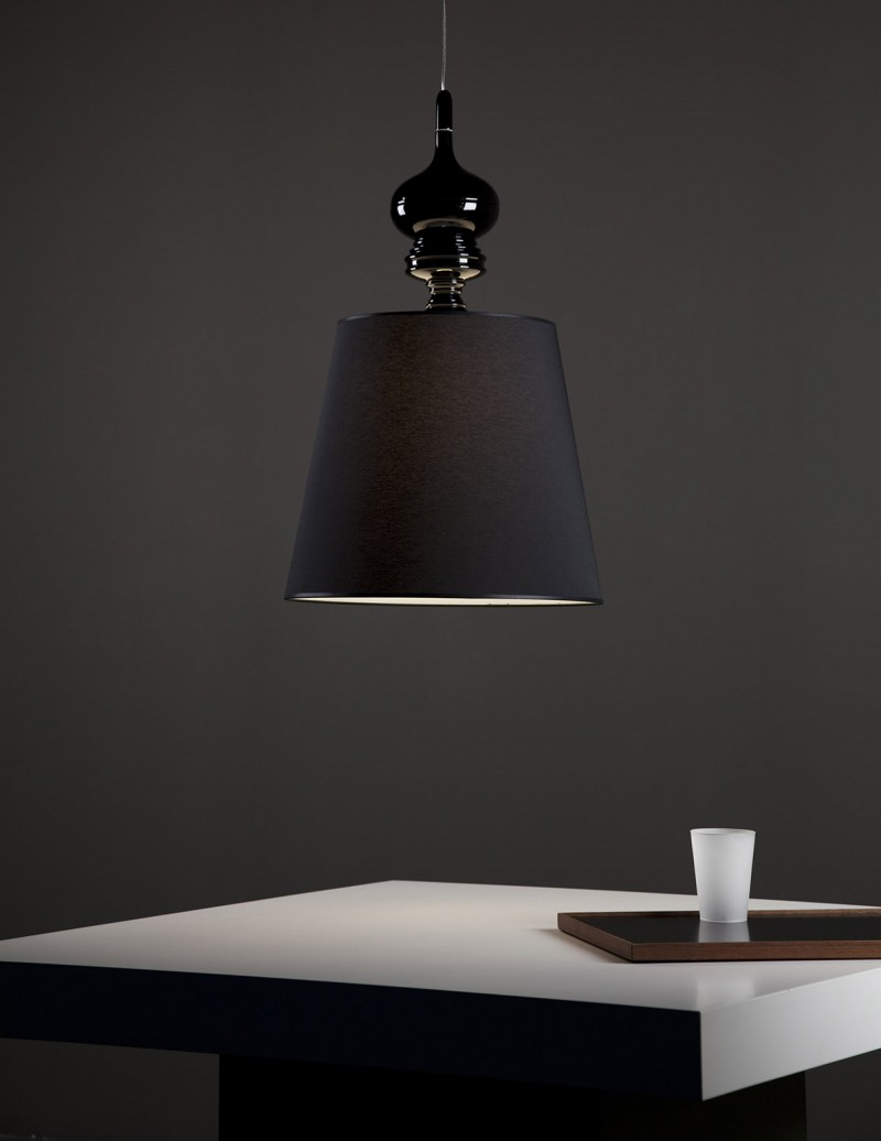 Josephine T for Metalarte Black Pendant Lamp