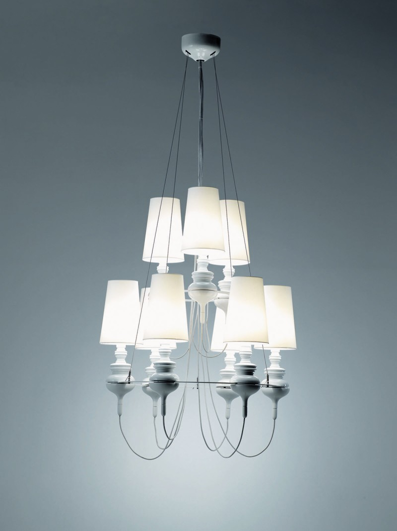 Josephine Mini Queen for Metalarte White Chandelier