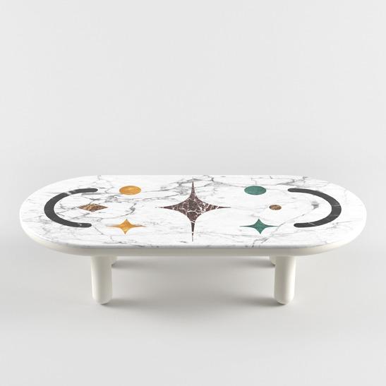 Hymy oval coffee table
