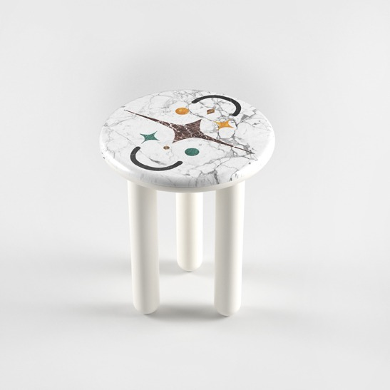 Hymy white side table