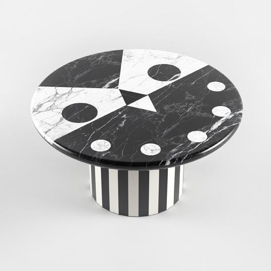 Niko Niko table black and white