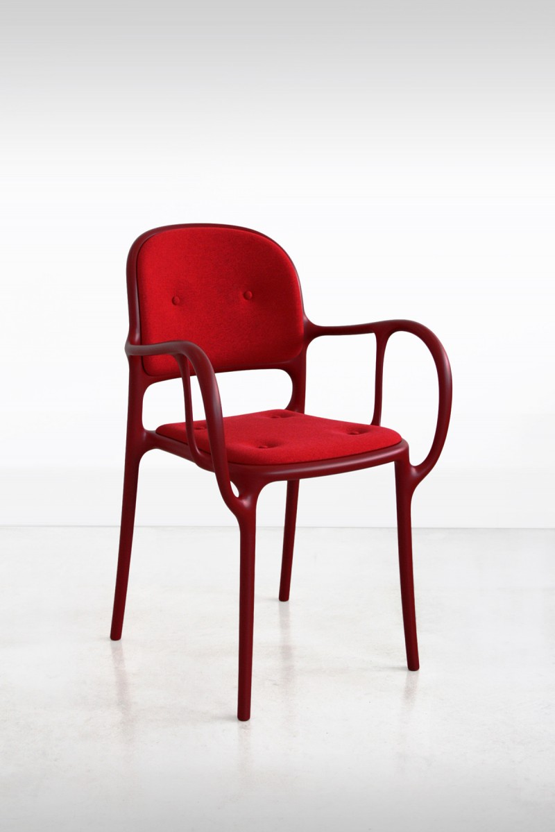 Milà Chair Red Cushion