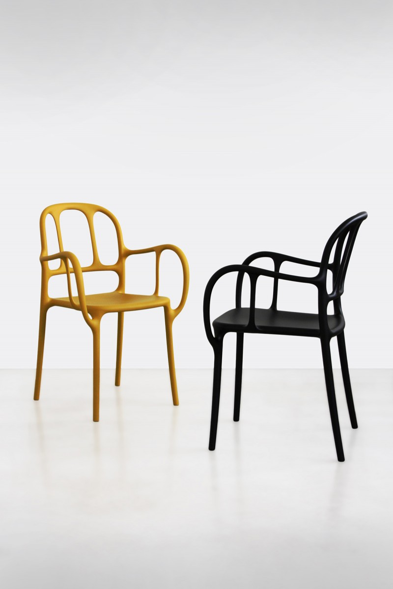 Milà Chair Black & Mustard