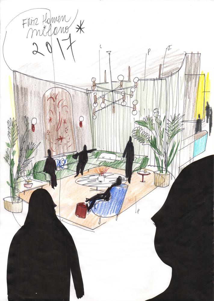Fritz Hotel - Salone Del Mobile 2017 Sketch