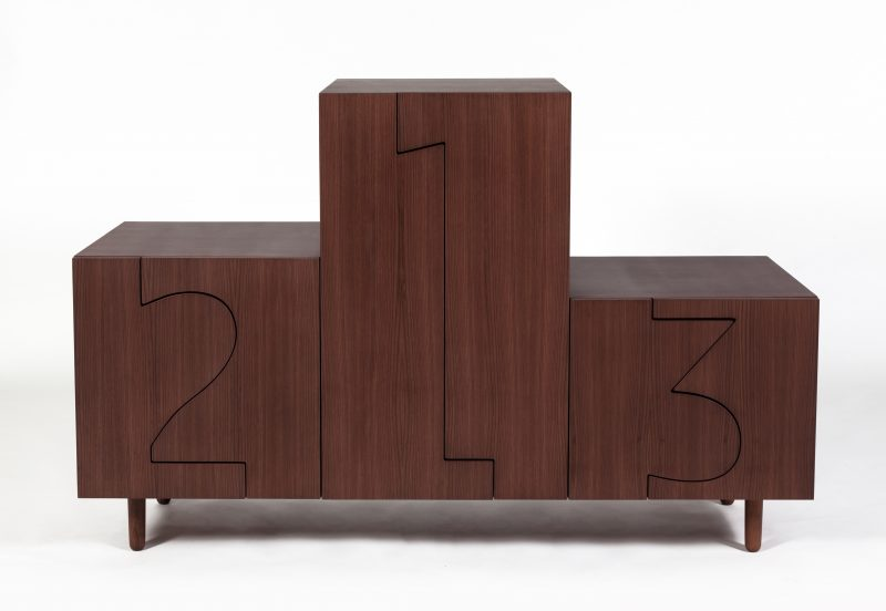 Game On, Galerie Kreo, PODIUM CABINET WALNUT