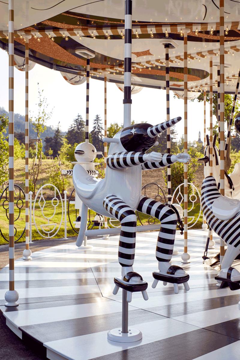 Swarovski carousel details