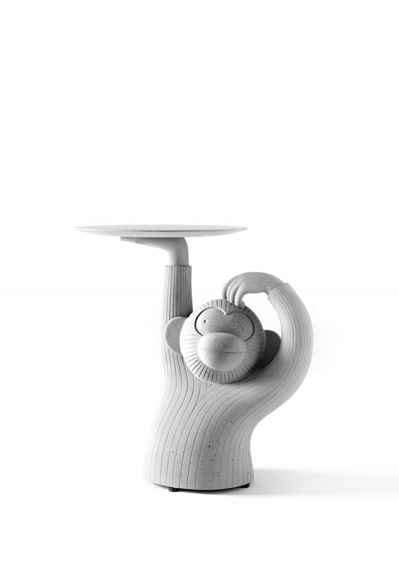 Monkey Side Table Front