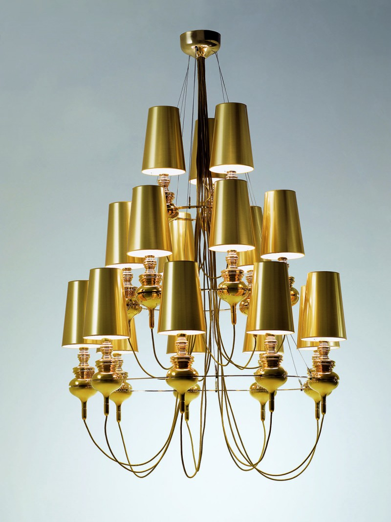 Josephine Queen for Metalarte Gold Chandelier