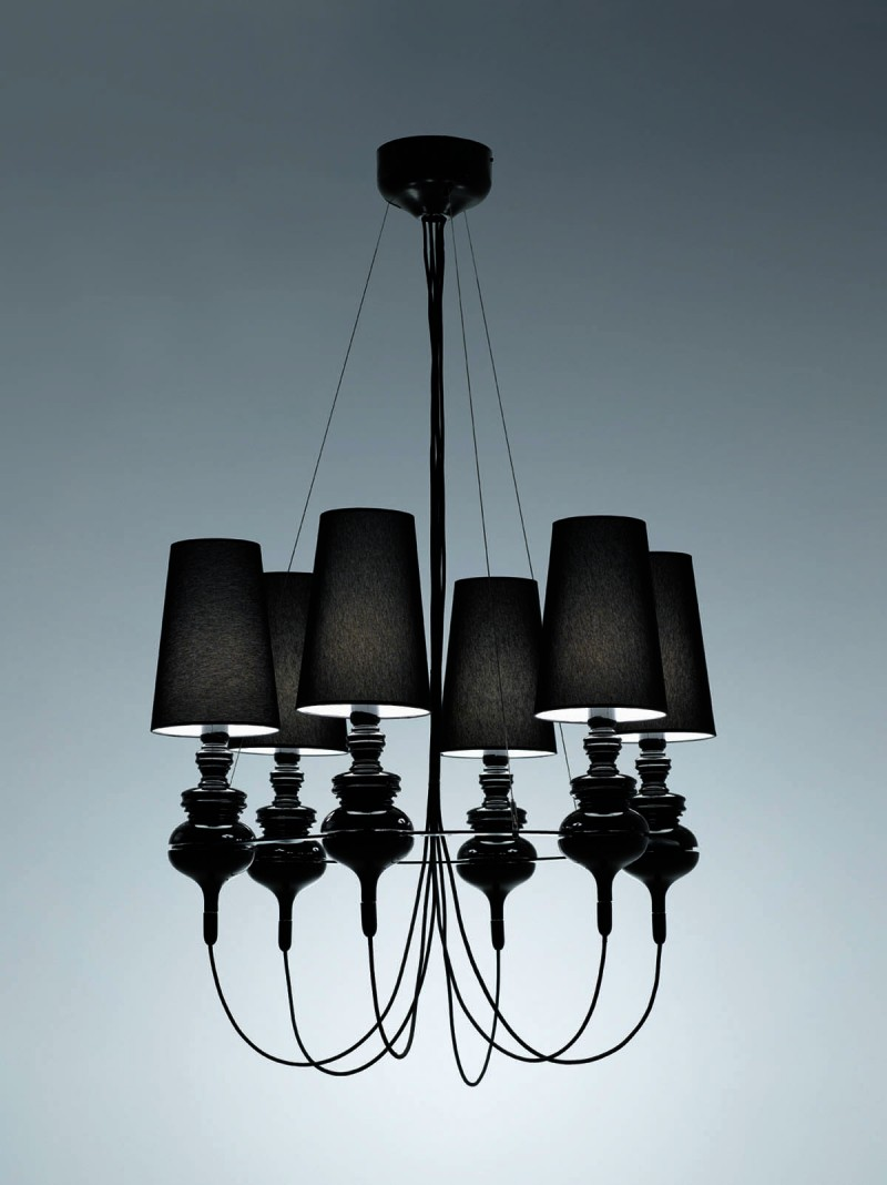 Josephine Queen for Metalarte Black Chandelier