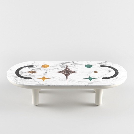 Hymy oval coffee table
